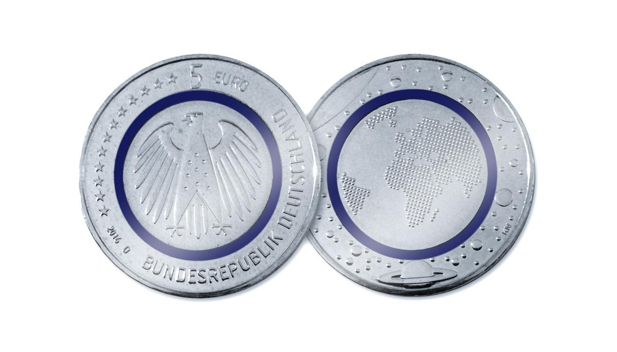 5 Euro Deutschland 2016 stempelglanz