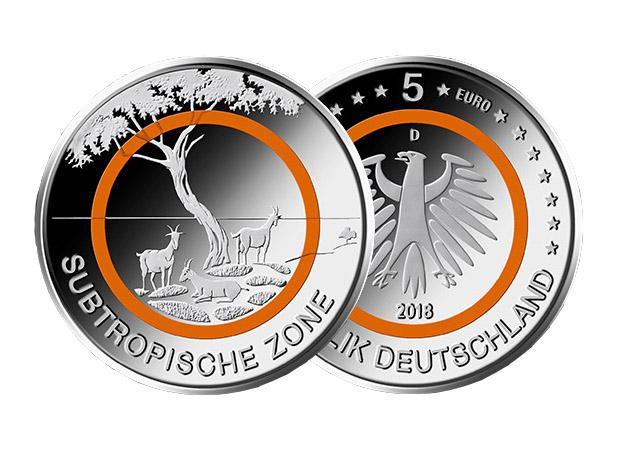 5 Euro Münze 2018 Online Kaufen Subtropische Zone